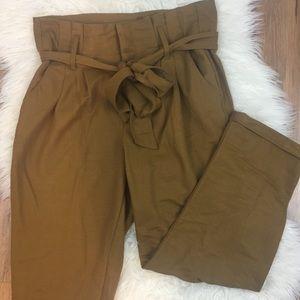 Indigo Rein Pants - Indigo Rein Paper Bag Ankle Length High Waist Pant